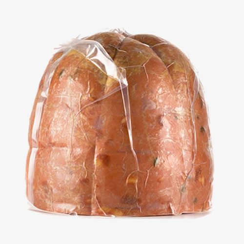 Half Mortadella with pistachios 6,5/7,5 Kg vacuum packed