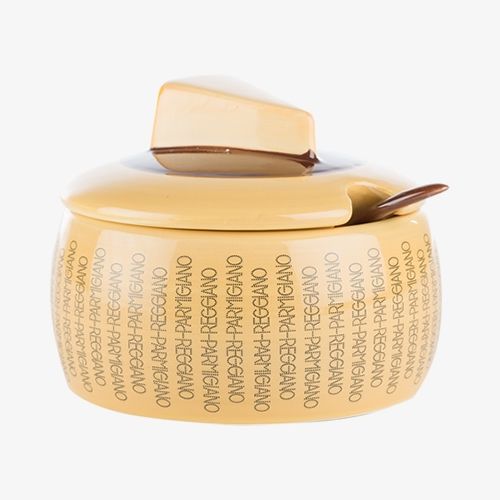 Parmigiano Ceramic Cheese Bowl and Spoon